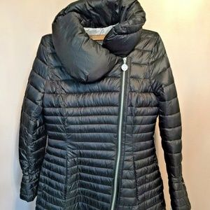 Laundry by Shelli Segal Mixed Quilt Puffer Coat